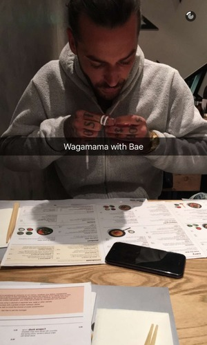 Pete Wicks dines out with Megan McKenna at Wagamamas.
