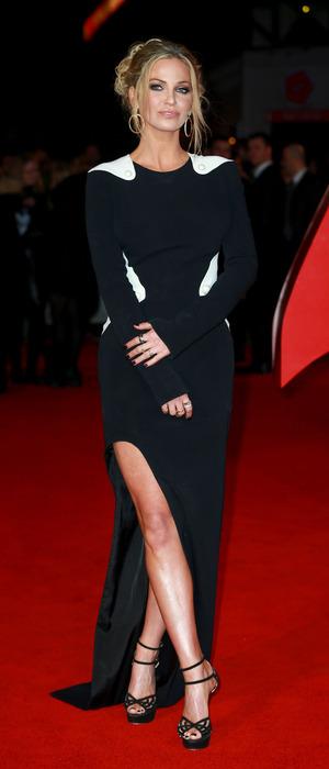 Former Girls Aloud star Sarah Harding attends the Batman V Superman premiere in London, 23rd March 2016