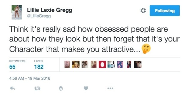 Lillie Lexie Gregg hits out at Charlotte Crosby on Twitter? 19 March