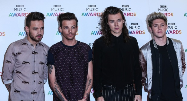 1D at the BBC Music Awards 2015 held at the Genting Arena - Arrivals. 10 December 2015.