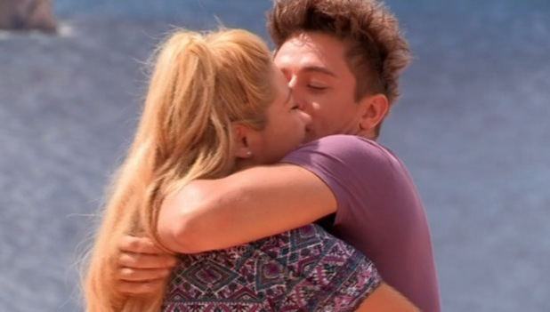 Ellie Young and Deano Baily make up, Ibiza Weekender 20 March