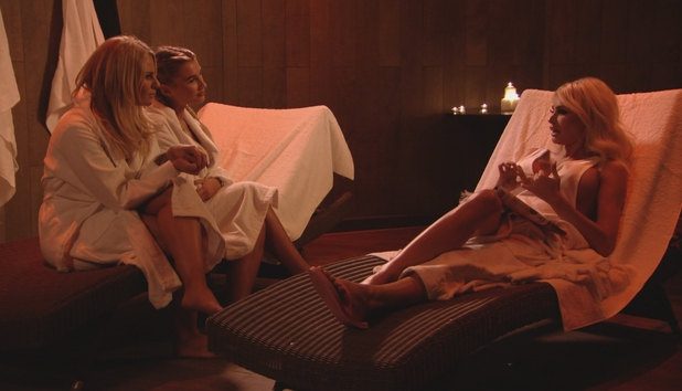 TOWIE - Chloe enjoys pampering session with Billie and Danni. 23 March 2016.