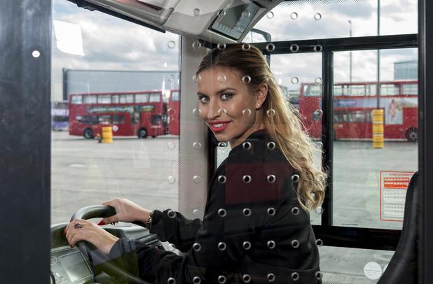 Ferne McCann backs Stagecoach campaign. 17 March 2016.