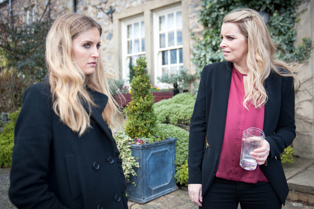 Emmerdale, Holly plots with Charity, Fri 25 Mar