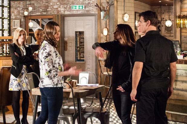 Corrie, Carla slaps Tracy, Mon 28 Mar