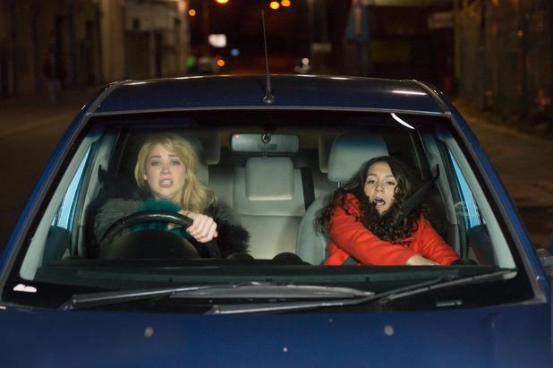 Hollyoaks, Holly and Cleo crash, Mon 28 Mar