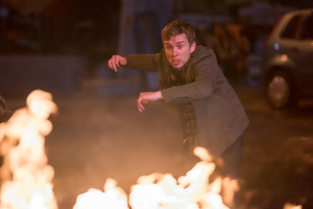 Hollyoaks, Nathan when the car explodes, Tue 29 Mar