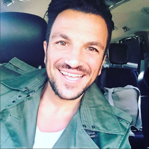 Peter Andre shares smiling selfie with his Instagram fans.