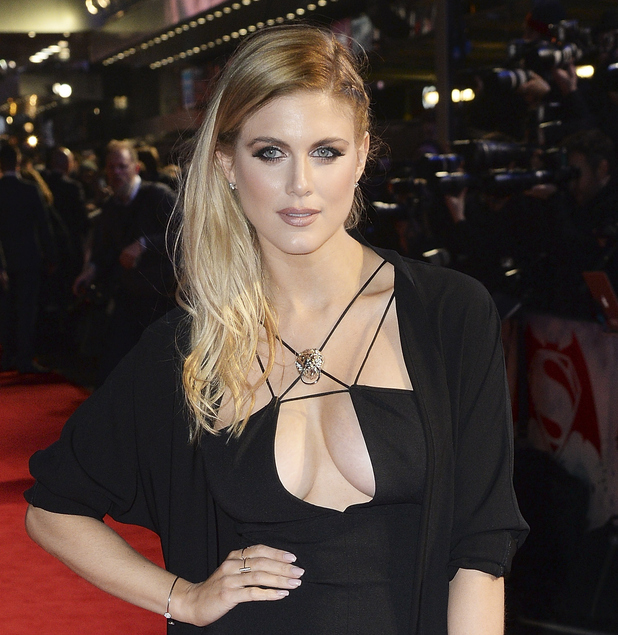 Ashley James attends the European Premiere of 'Batman V Superman: Dawn Of Justice' at Odeon Leicester Square on March 22, 2016 in London, England.