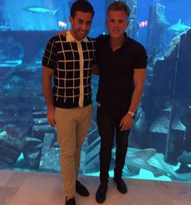 TOWIE's James 'Arg' Argent and Tommy Mallet on holiday in Dubai. April 2015.