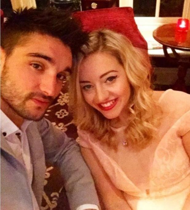 Tom Parker and girlfriend Kelsey Hardwick 19 March