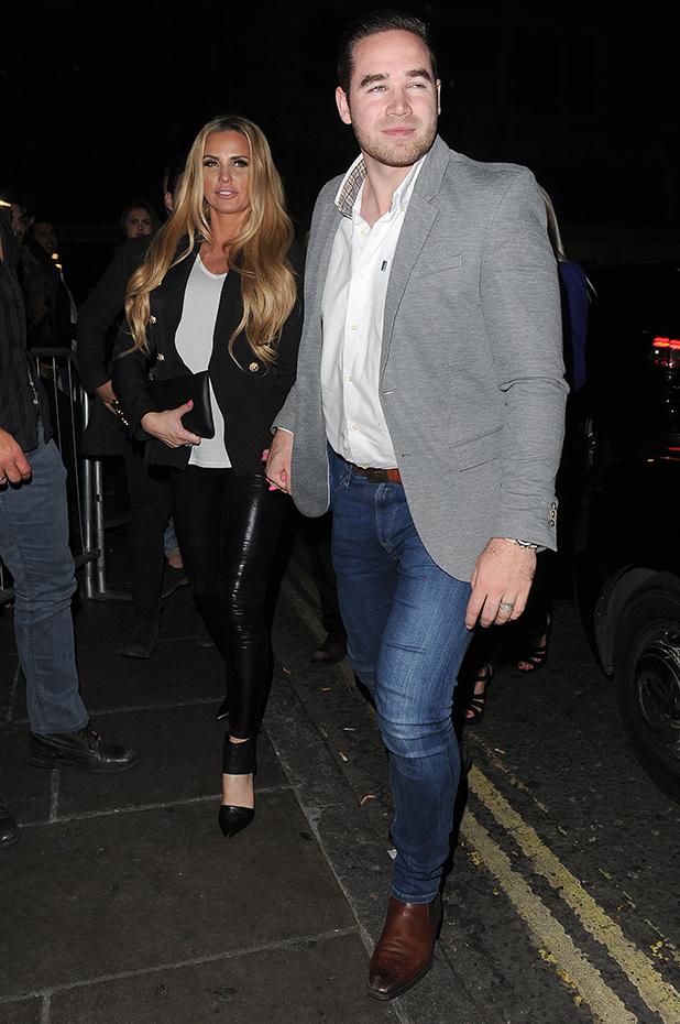 Katie Price and Kieran Hayler seen out in Mayfair, leaving Novikov restaurant 22 March 2016