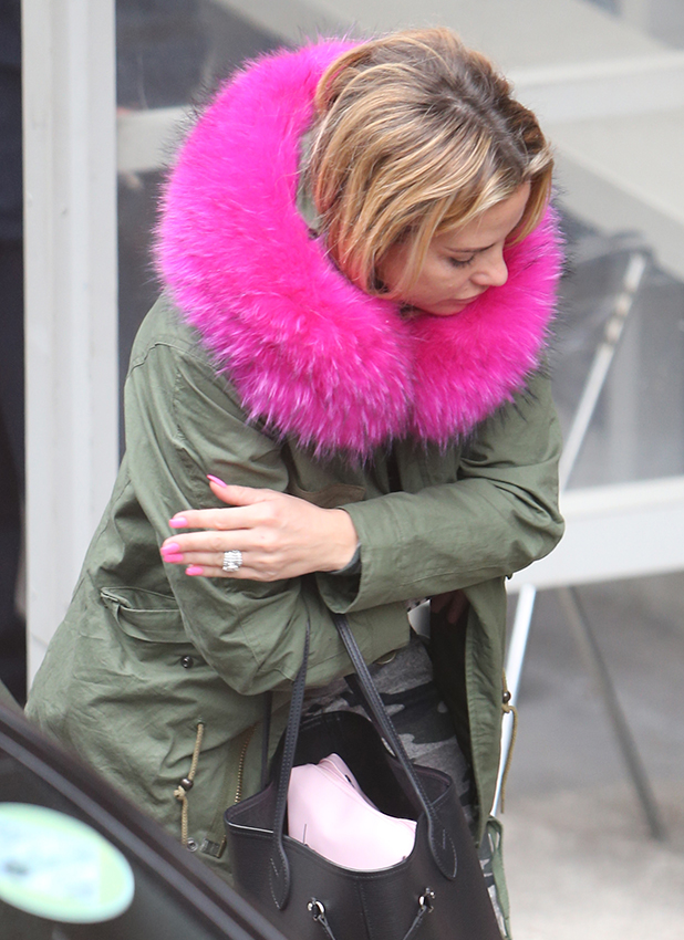 Katie Price outside ITV Studios 23 March 2016