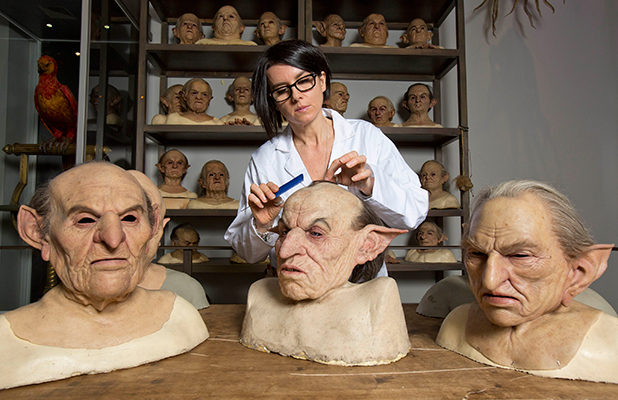 Sarita Allison spring-cleans creature effects at Warner Bros Studio Tour - the Making of Harry Potter