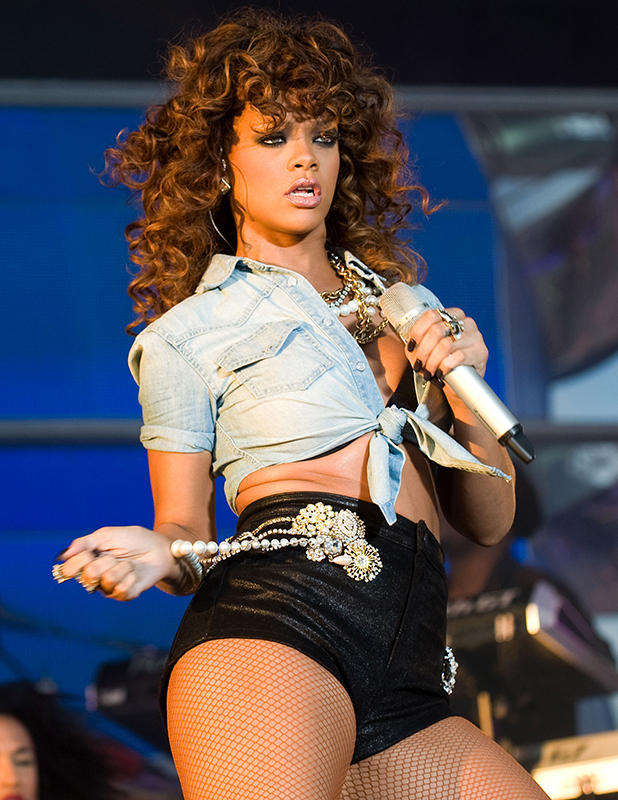 Rihanna performs on day 2 of the V Festival at Hylands Park on August 21, 2011 in Chelmsford, England.