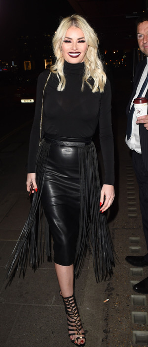 TOWIE's Chloe Sims seen leaving Sexy Fish restaurant in London, 31st March 2016
