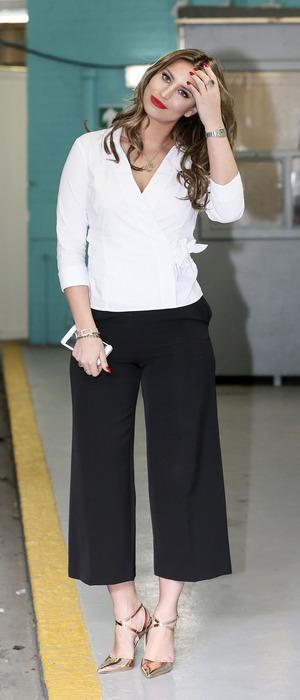 Former TOWIE star Ferne McCann outside ITV Studios in London, 31st March 2016