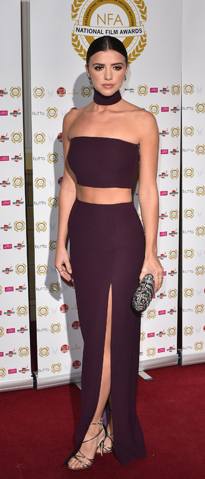 Former The Only Way Is Essex star and face of Barry M Lucy Mecklenburgh attends the National Film Awards, Porchester Hotel, London, 1st April 2016