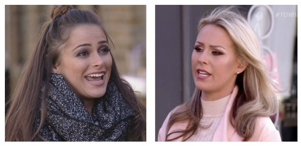 Courtney and Kate come face to face on The Only Way Is Essex. 30 March 2016.