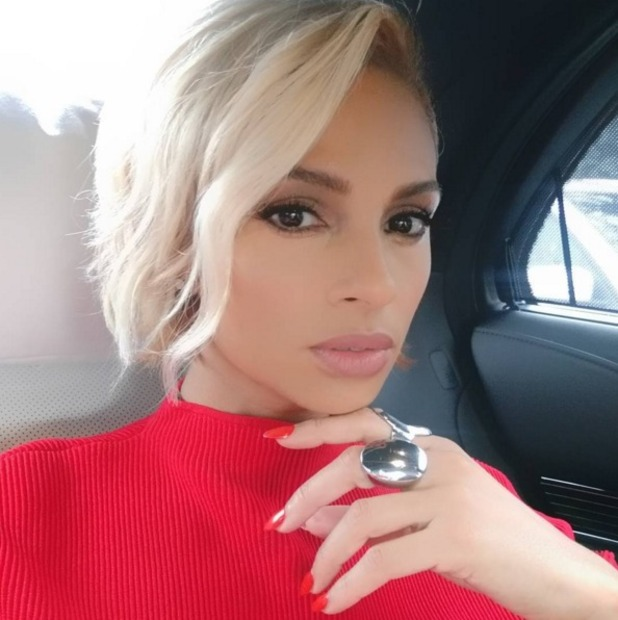 Alesha Dixon selfie on the way to Topshop catwalk show at London Fashion Week, 21 February 2016