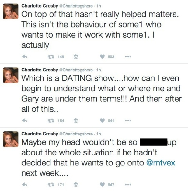 Charlotte Crosby hits out at Gaz Beadle on Twitter - part two 30 March