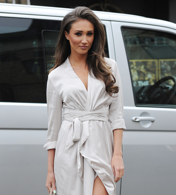 Megan McKenna filming for TOWIE, Brickyard restaurant Essex 23 March