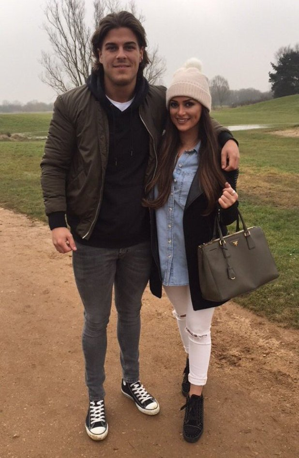 TOWIE's Chris and Courtney filming. 12 March