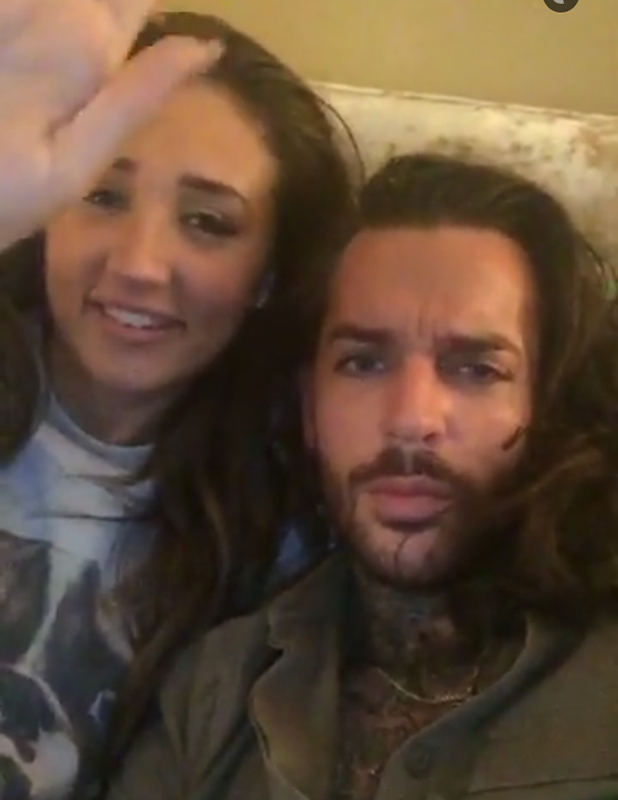 Megan McKenna and Pete Wicks in Snapchat videos, 31 March 2016