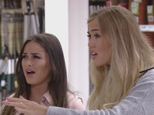 TOWIE: Courtney and Chloe. 10 April 2016.