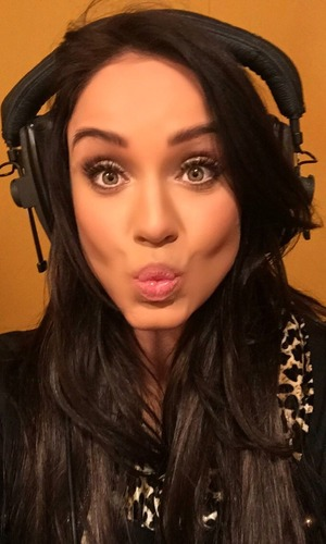 Vicky Pattison in the studio for Strip Date. 24 March 2016.