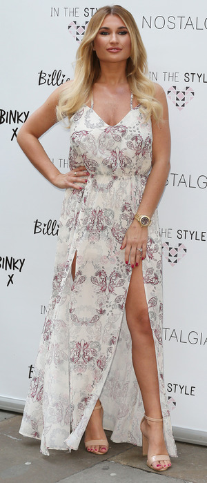 TOWIE star Billie Faiers attends the In The Style collection launch at the Sanctum hotel soho, 5th March 2016