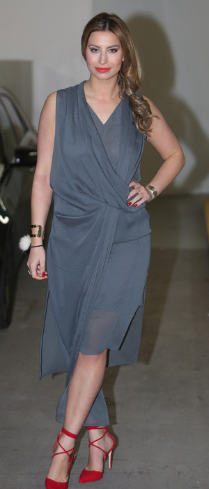 The Only Way Is Essex's Ferne McCann looks very glamorous outside ITV Studios in London, 6th April 2016