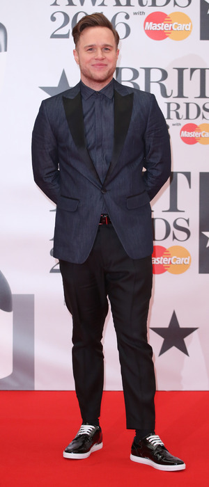 Olly Murs at The Brit Awards, February 24, 2016 O2 London