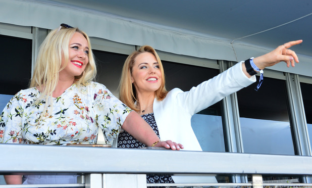Hollyoaks cast at Aintree races. 8 April 2016.