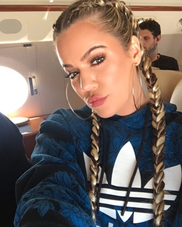 Khloe Kardashian shows off her new stripy braids on Instagram, 5th March 2016
