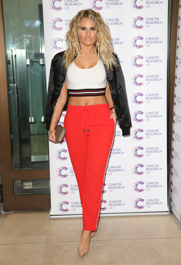 TOWIE star Danielle Armstrong attends James Ingham's Jog On To Cancer event in London, 7th April 2016