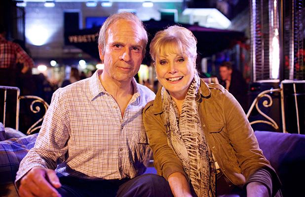 Dr Chris van Tulleken, Angela Rippon (L-R) Chris is in prosthetics How To Stay Young, BBC