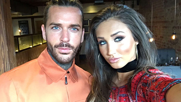TOWIE's Megan McKenna, Pete Wicks pose for Snapchat selfie 6 April 2016