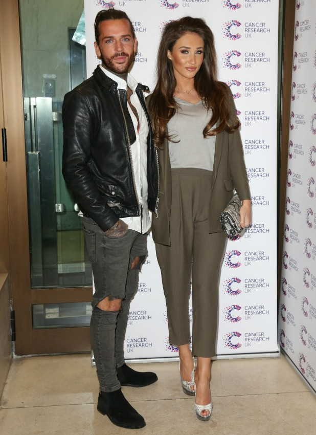 Kensington Roof Gardens Megan McKenna and Pete Wicks at Jog On To Cancer 7 April 2016