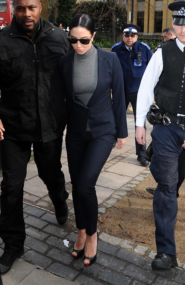 Tulisa Contostavlos arrives at Highbury Corner Magistrates' Court