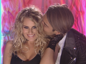TOWIE: Lockie and Danni at punk party. 13 April 2016.