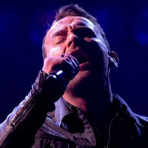 Kevin Simm performing 'Stay' in the final of 'The Voice UK'. Broadcast on BBC1 HD. 9 April 2016.