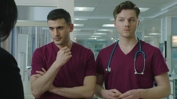Holby City - Issac Mayfield and Dominic Copeland. 13 April 2016.