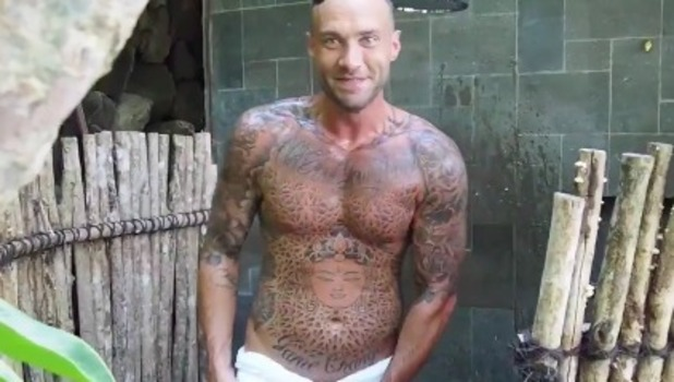 Calum Best shares cheeky snap with social media fans! 16 April 2016.