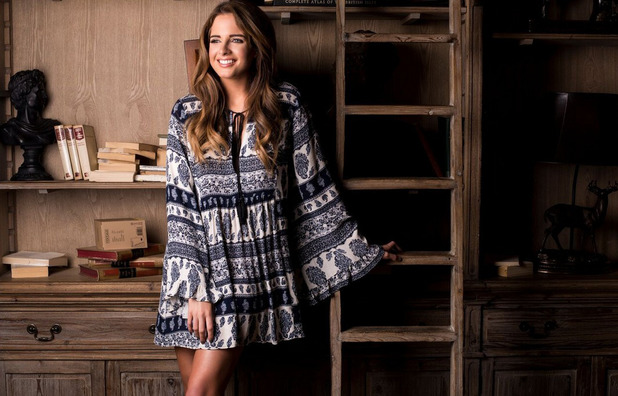 Made In Chelsea's Binky Felstead models her new In The Style collection, Smock Dress, £33.99, 15th April 2016