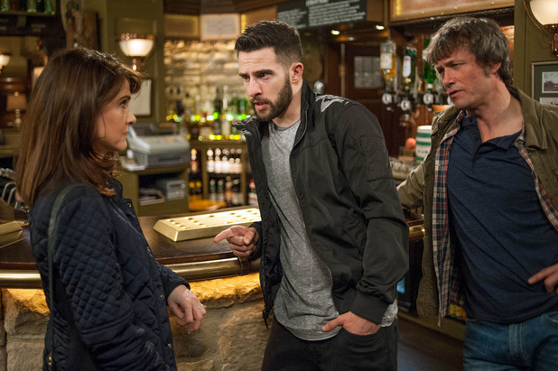 Emmerdale, Emma upset Pete doesn't want to come home, Mon 18 Apr