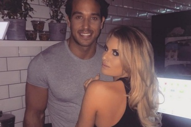 TOWIE's James 'Lockie' Lock and Danielle Armstrong. April 2016.