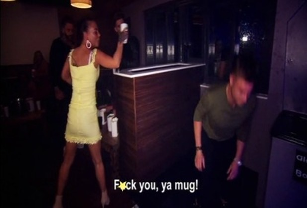 Geordie Shore episode 5: Chantelle chucks a drink at Scotty. 12 April 2016.
