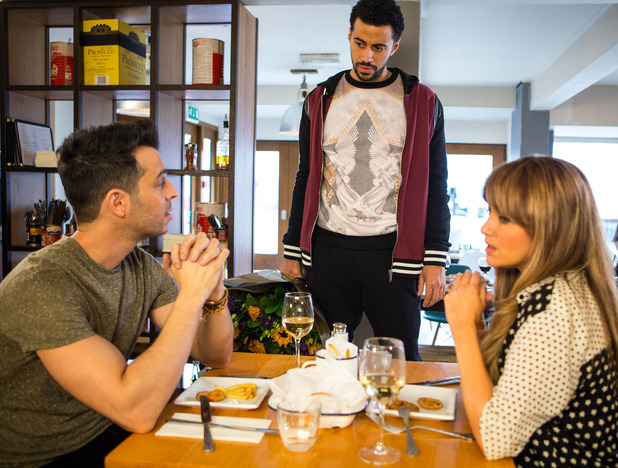 Corrie, Luke catches Maria and Paulo, Wed 13 Apr