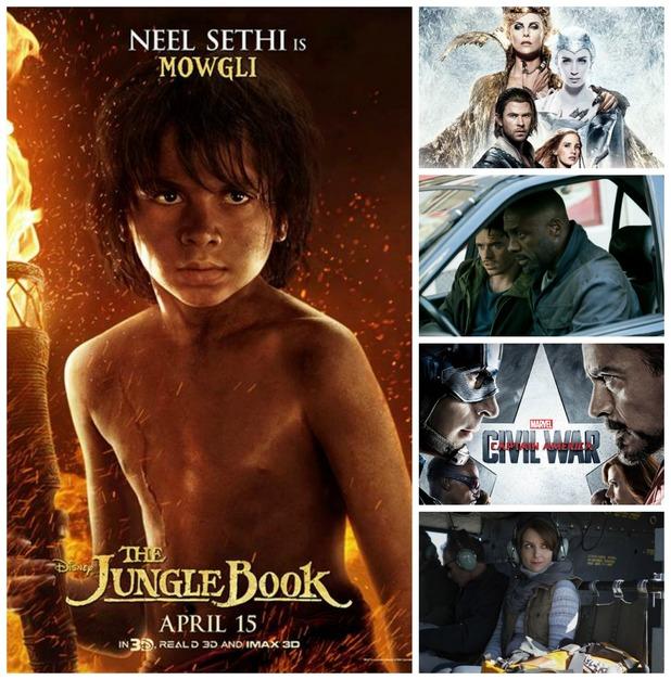 Film picks - April 2016. The Huntsman: Winter's War, The Jungle Book, Captain America: Civil War, Bastille Day, Whiskey Tango Foxtrot
